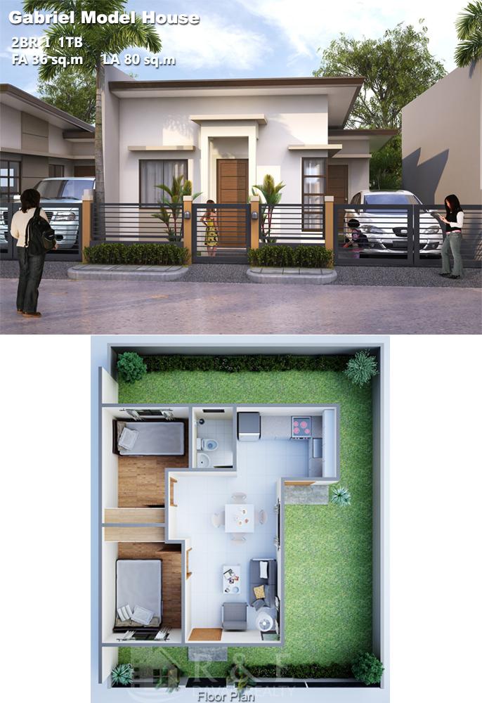 Small Beautiful Bungalow House Design Ideas Floor Plan 80 Square Meter House Design Bungalow